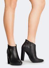 "BRECKELLE'S Women's Black Ankle Pointed Toe Bootie Lisa-11 Size 7.5 NIB Vegan 4"""