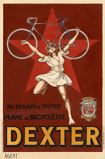 Dexter - Original Vintage Bicycle Poster - Cycling - Mich