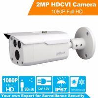 "Dahua HAC-HFW1200D 2MP HDCVI IR80m Bullet Camera 3.6mm IP67 1/2.7"" CMOS"