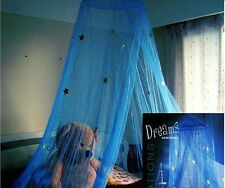 Blue Star Lace Mosquito Net Canopy Twin Full Queen King Bed Size
