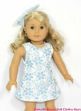 Daisy & Lace Sun Dress + Headband 18 in Doll Clothes Fit American Girl