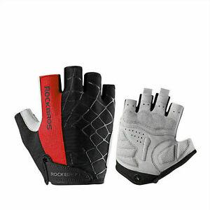 ROCKBROS Bike Fingerless Golves Cycling Shockproof Breathable Half Finger Gloves