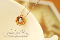 18K Rose Gold GP Womens Cute Lucky Ring Charm Pendant Necklace Ideal Gift