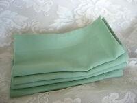 Set of 4 Beautiful Light Green Cotton Damask Weave Napkins