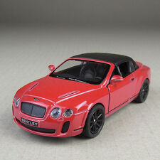 2010 Bentley Continental Convertible Red 1:38 Scale Diecast Model Car Detailed