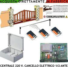Centrale Compatibile NICE 1/2 Motori 220 V 550 W Cancello 3 Radioc. Rolling. Cod