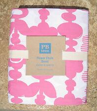 POTTERY BARN ~ PB TEEN ~  FLOWER CHAIN FULL / QUEEN DUVET COVER ~ BRIGHT PINK
