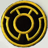 "2.5"" Yellow on Black Lantern Corps Classic Style Embroidered Iron-on Patch"