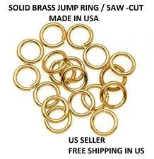 18 GA Brass Jump Ring  6 MM O/D Pkg. Of 280 /Made in USA #BRJR18-6M -1Z