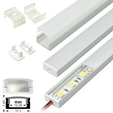 KingLed® Profilo Alluminio Lineare 1 Metro Copertura Opaca per Strisce LED 1232