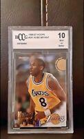 1996-97 Hoops #281 Kobe Bryant Rookie Card BGS BCCG 10 Mint Los Angeles Lakers