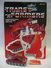 vintage G1 Transformers WARPATH w/ backing card autobot minibot 100% complete !!