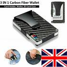 RFID Blocking Mens Credit Card Holder Carbon Fiber Wallet Money Clip UK