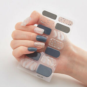 Nail Polish Nail Art Wraps Full Decor Stickers Self-Stick Manicure Sticker Size