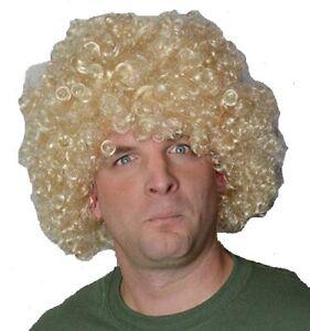 AFRO STYLE CURLY BLONDE MEN'S WAVY FANCY DRESS WIG. UK DISP