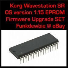 Korg Wavestation SR OS 1.15 EPROM Firmware Upgrade SET / New ROM Update Chips