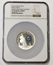 2014 Cook Island Royal Delft DUTCH EAST INDIA $10 Silver Coin NGC PF 70 Pop (2)
