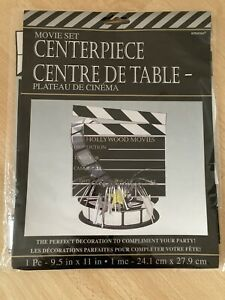 Hollywood 'Movie Set' Foil Spray Directors/Clapper Board Table Centrepiece