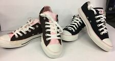 Lot Of 2 New W Tags Unisex Converse All Star 8.5M/10.5W Low Top Black/Pink/Br