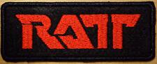 RATT 01 embroidered on felt patch