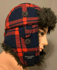 Abercrombie & Fitch Unisex Adults Plaid Trapper Hat Red Plaid