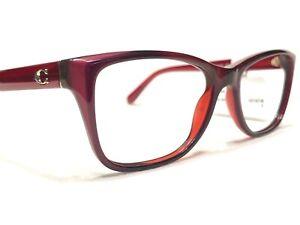 Coach HC6129 5532 Women's Red Berry Modern Rx Designer Eyeglasses Frames 52/16
