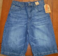 BOYS ROUTE 66 DENIM SHORTS*SIZE 14 HUSKY*PEACE SIGN BACK POCKET**NEW WITH TAGS