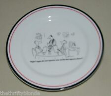 New Yorker Cartoon Plate Restoration Hardware 16526 Wine Most Expensive Meal