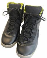 Nike Air Jordan 10 X Black Venom Green Shoes 310806-033 GS Youth Size 7Y