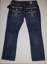 Rock Revival Mens Designer Jeans Chris Straight RJ8911J Size 36 CHRIS J