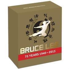 2015 Tuvalu Bruce Lee 75th Anniversary $25 Dollar Gold Proof Coin Box Coa