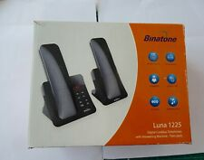 Binatone Luna 1225 Digital cordless phone + answering machine twin pack