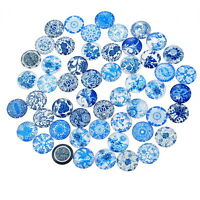 50PCs China Flower Mixed Glass Embellishments Cabochons Phone Decor 12mm