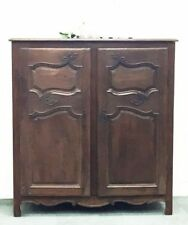 Antique French Armoire Small Rustic Chestnut Louis Style Cupboard 1850 - i122