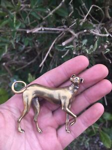 Nice Victorian Brass Model Of A Greyhound Greyhound Racing Sporting Memorabilia