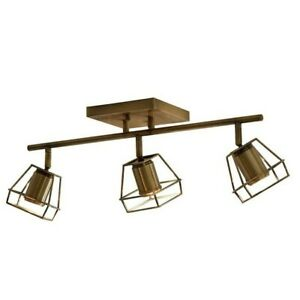 Allen+ Roth Astoria 3-Light 21.85-in GOLD Dimmable LED Track Bar Fixed Light Kit