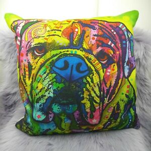 Bulldog bright multi color decor pillow pillow case