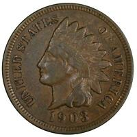 1903 Indian Head Cent Extra Fine Penny XF