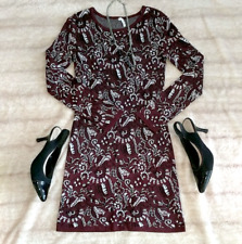 Willow & Clay | Anthropologie | Fall Merlot Sweater Dress | Nwot | Size Small