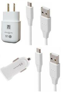 LG OEM Fast Wall,LG USB-C,QC3.0 Car Adapter For LG Stylo 4/4+/Stylo 5/Stylo 6