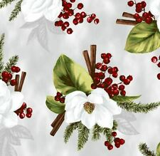 Hoffman Fabric, Meet Magnolia Metallic, R7677-521S Mist/Silver, 100% Cotton