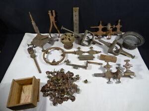 ancien outils horloger tours  pièces diverses lot