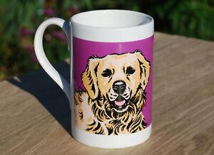 Golden Retreiver porcelain single mug