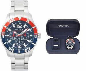 Orologio Uomo Nautica Acciaio Special Box Con Cinturino Nato e Cacciavite Regalo