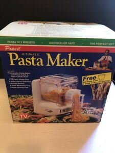 Popeil Automatic Electric Pasta Maker New Vintage 1993 w/ Bagel Cutter