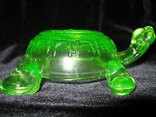 Green Vaseline glass Turtle uranium yellow sea glow canary figure aquarium shell