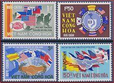 VIETNAM du SUD N°331/334* Drapeaux,1968 South Vietnam #327-330 War Allies MH