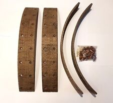 ALLARD CARS 1947  TO 1948 FRONT SET OF 4 BRAKE LININGS WITH RIVETS RJ619A