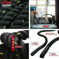 """Battle Rope - Exercise Fitness Undulation Ropes - 1.5""""/2"""" 30/40/50ft Length opt"""