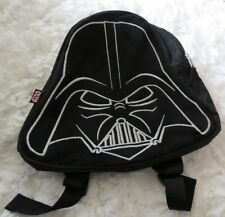 Star Wars Darth Vader Black Silver Trim Zippered Backpack Lunch Bag